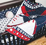 New York Yankees 5 Piece Crib Set includes (Comforter, Dust Ruffle, 2 Fitted Sheets, and Bumper Pads)- All pieces fit a standard size crib – Save Big By Bundling!, Baby & Kids Zone