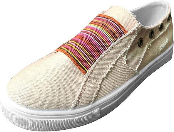 Femme Plat Skateboard Toile Plateforme L1 Slip On Mocassins Athlétique Baskets Chaussures