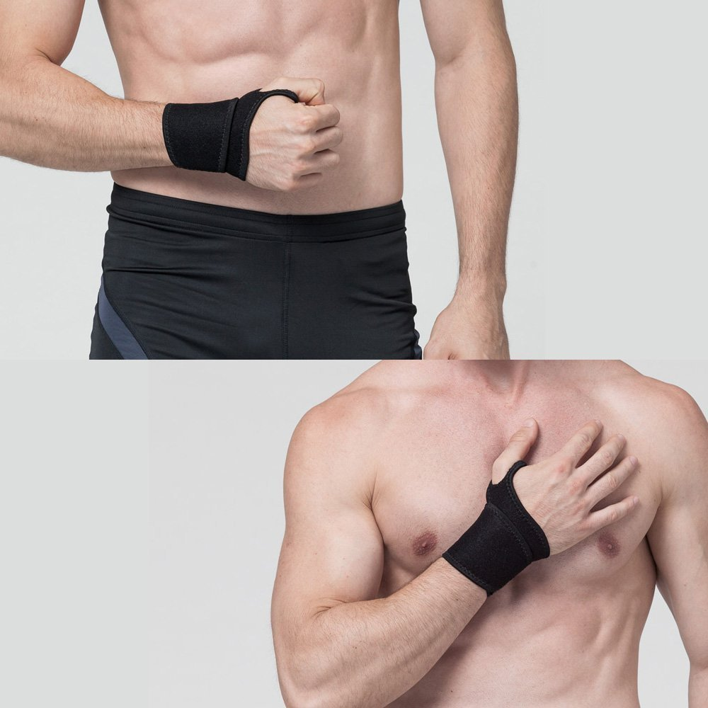Wrist Brace, GROOFOO Neoprene Wrist Support [Wrist Support Brace][Wrist Wrap][Wrist Straps] for Volleyball Badminton Tennis Weightlifting, Sports Injury Rehabilitation & Arthritic Recovery