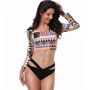 Beauty leader Mujer Protección UV Traje de baño Tankini ...