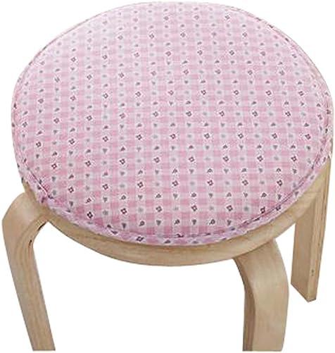 Black Temptation Creative Round Stool Cushion Warm Sponge Pad Bar Stool Mat Pink Flower