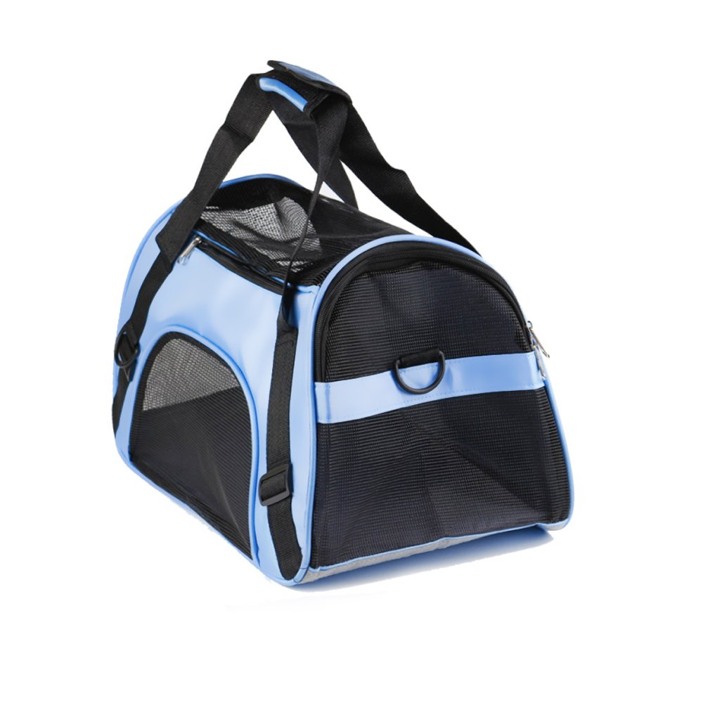 Andyan Pet Carrier for Dogs Cats - Side Air Travel Bag - Best for Small or Medium Dog and Cat - Portable Soft Airline Approved Small Puppy Travel Bag