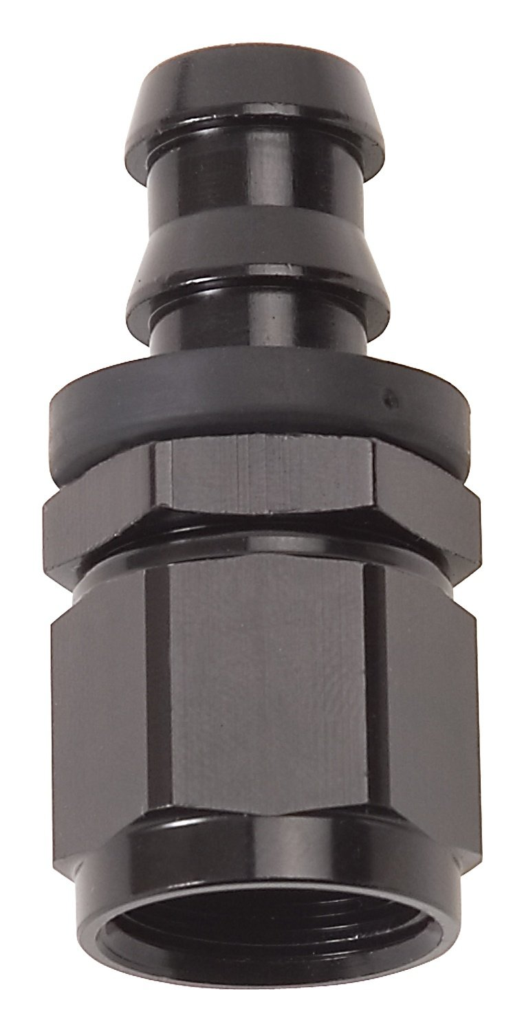 Russell 624013 Twist-Lok Black 6-AN Straight Hose End