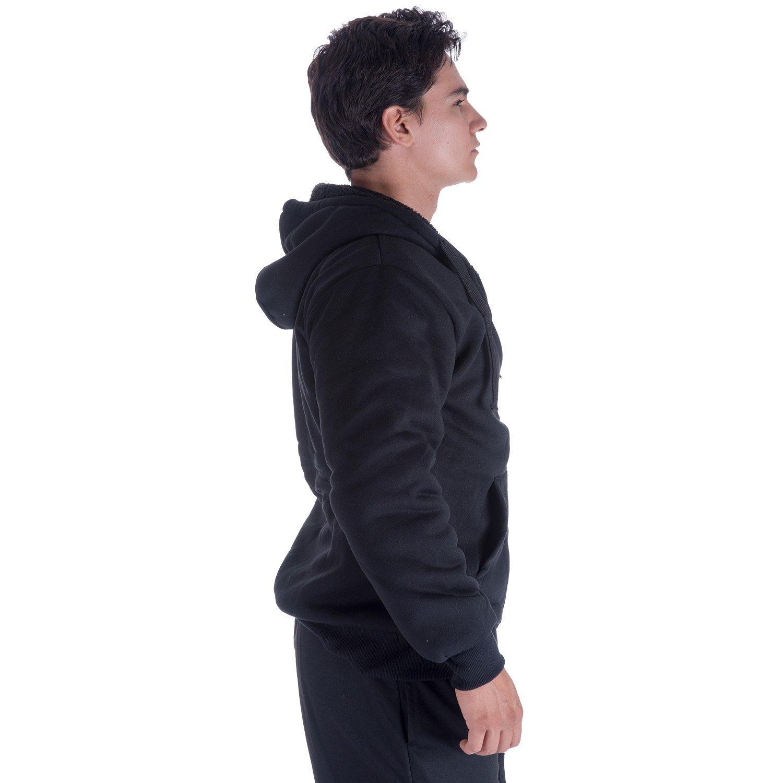 Gary Com Fleece Lined Hoodies for Men 1.8 lbs Full Zip Sherpa Plus Size Sweatshirt Mens Jackets Heavyweight Outwear (4XL, Black) by Gary Com (Image #3)
