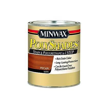 Minwax 619204444 Polyshades Stain Polyurethane In 1 Step Quart