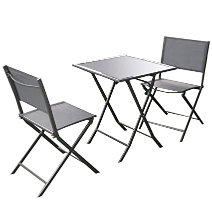Amazon.com Giantex 3 Pcs Bistro Set Garden Backyard Table Chairs Outdoor Patio Furniture Folding Garden u0026 Outdoor  sc 1 st  Amazon.com & Amazon.com: Giantex 3 Pcs Bistro Set Garden Backyard Table Chairs ...