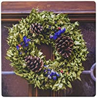 "3dRose Decorative Holiday Wreath On Front Door, Rothenburg, Germany Mouse Pad, 8"" x 8"" (mp_188529_1)"