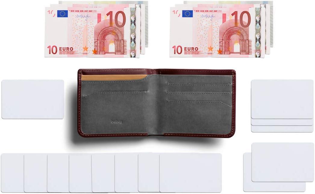 - Black tasca nascosta protezione RFID disponibile Bellroy Hide /& Seek Wallet Portafoglio sottile in pelle con doppia piega Max. 12 carte, contante, tasca per monete