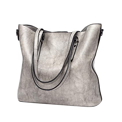 Amazon.com  Women Retro Crossbody Bag Rakkiss Leather Shoulder Bag Handbag  Bucket Large Capacity Bag Tote Backpack Bags (One Size 5ff654d3d2a5f