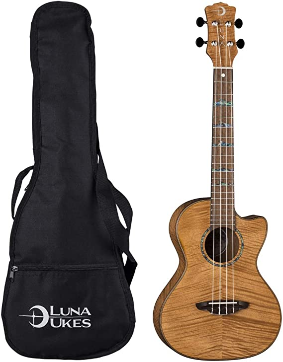 Luna High Tide Exotic Mahogany Tenor Ukulele - Satin Natural