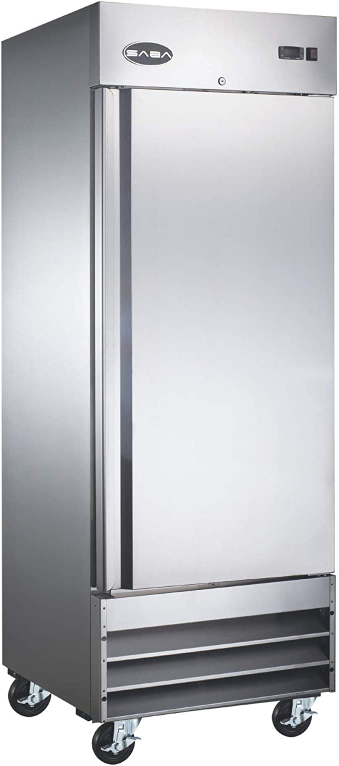 Amazon Com Saba One Door Commercial Refrigerator Stainless Steel Reach In 23 Cu Ft Appliances