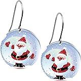 Body Candy Snow Globe Santa Claus Earrings