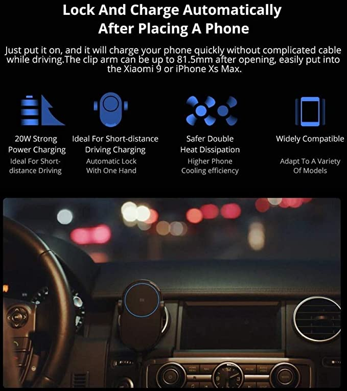 Xiaomi Mi Qi Wireless Car Charger 20W Max Fast Charger