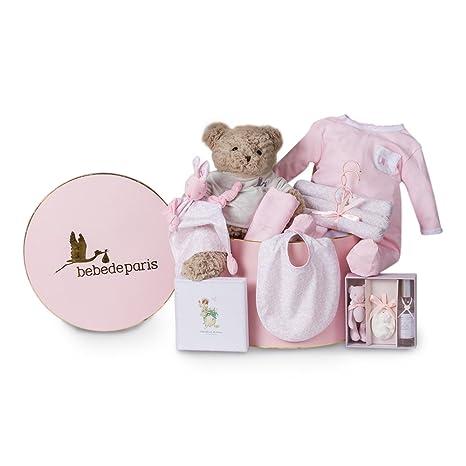 Canastilla regalo bebé Vintage Ensueño BebeDeParis-Rosa-cesta regalo ...