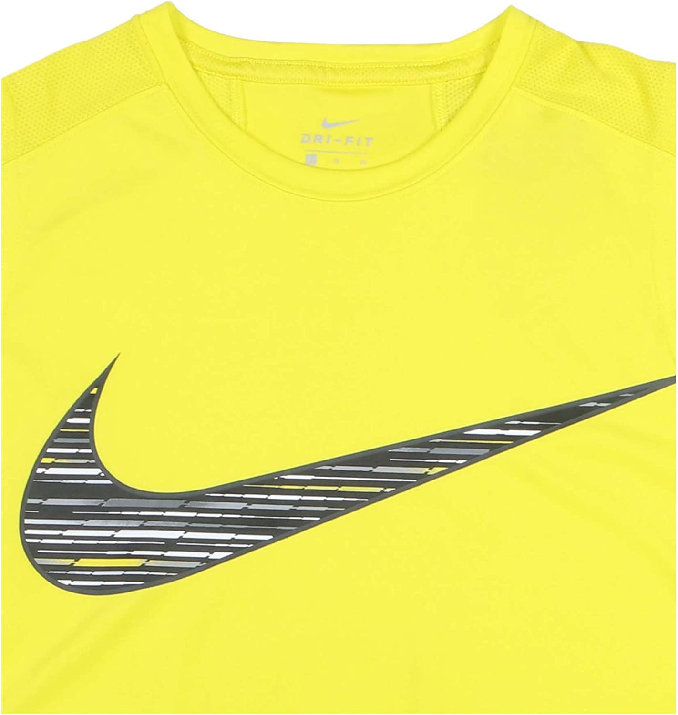 Electro Lime NIKE Boys Sleeveless Crew Neck T-Shirt Big Kids