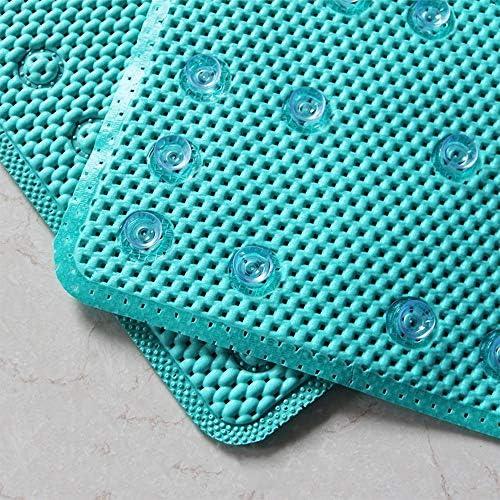 GHHQQZ バスルームのカーペット ノンスリップ 複数の吸盤 バスルームラグ PVC 妊婦 老人 キッチン フットパッド、 3色、 厚さ0.5 cm、 42x91cm (Color : White, Size : 42x91cm)