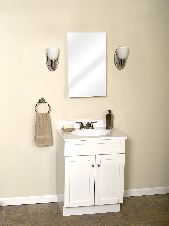 amazoncom zenith m115 beveled swing door medicine cabinet frameless home u0026 kitchen