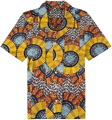 Candow Look Batik Camisa Casual para Hombre Plus Size ...