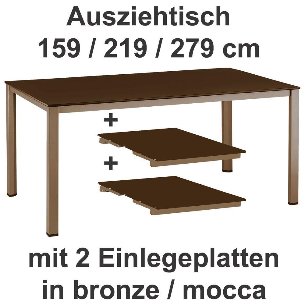 Kettler Ausziehtisch 159 219 279 Cm In Bronze Mocca Gartentisch
