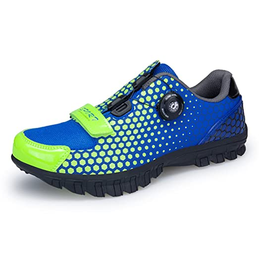 Cycling Shoes Biking Mountain Breathable Trainers With Mesh Panels