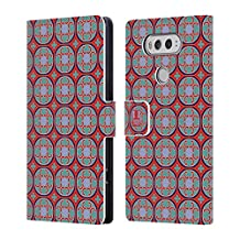 Head Case Designs Circle Series Moroccan Patterns Leather Book Wallet Case Cover For LG V10