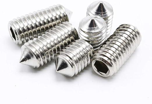 M2 x 4mm M2 Cone Point Set Screws Hex Socket Grub Screws 100Pcs