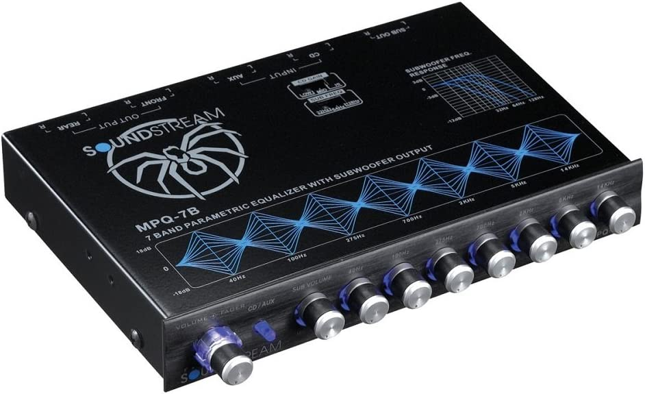 Soundstream MPQ-7B 7-Band 1//2 DIN Equalizer