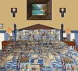 Hibiscus Tropical Flower ''Sunset Beach'' Bedding By Dean Miller - Queen / Full Duvet Cover Set - Tropical with Pillowcases