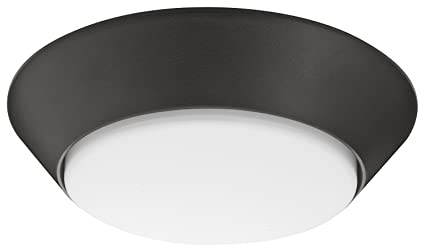 on sale 7edad 3c2b4 Lithonia Lighting 13 inch Round LED Flush Mount Thin Ceiling Light Mount,  Bronze, 3000K, Dimmable, Wet Listed