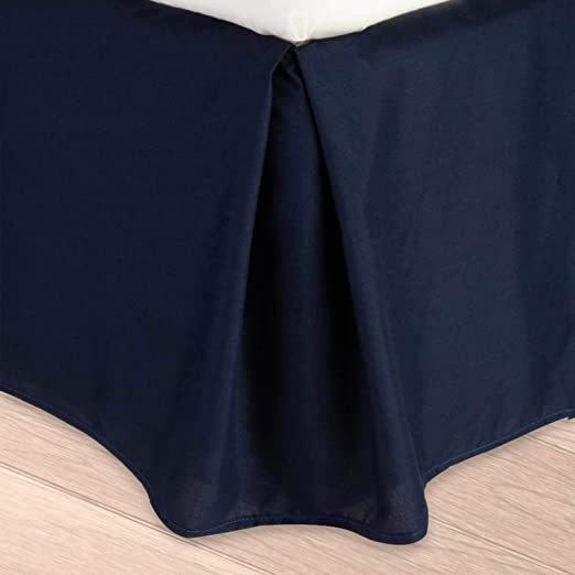 Amazon.com: Pleated Bed Skirt  Queen, Navy Blue Solid  18 Inch