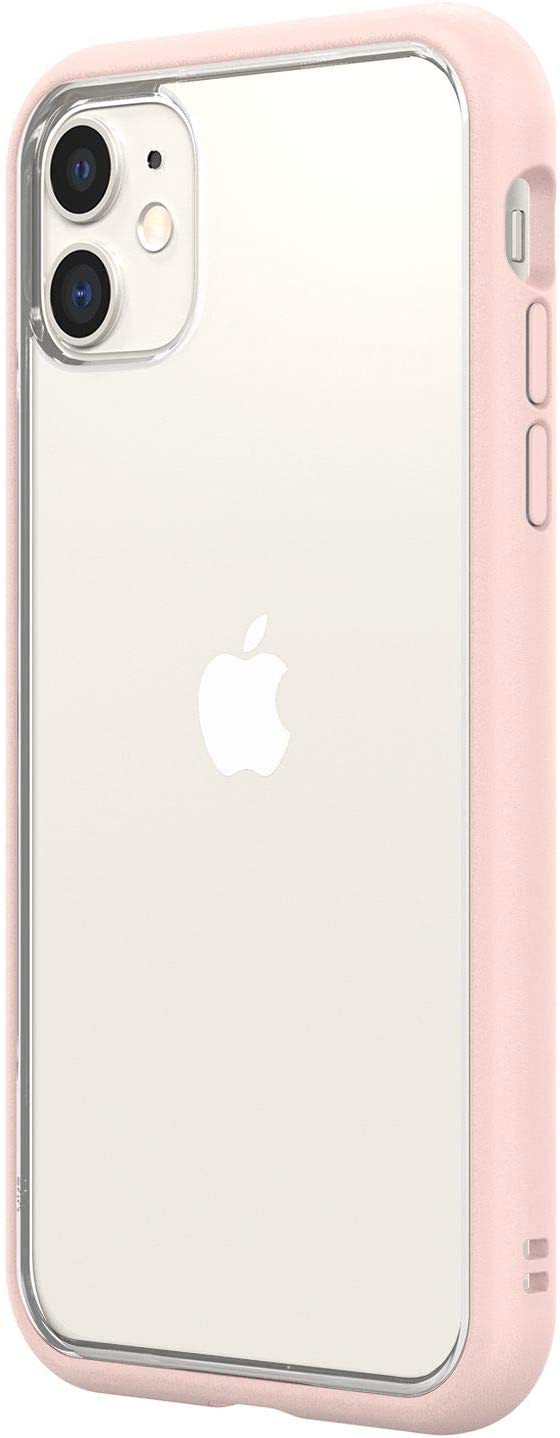 RhinoShield Modular Case Compatible with [iPhone 11] | Mod NX - Customizable Shock Absorbent Heavy Duty Protective Cover - Blush Pink