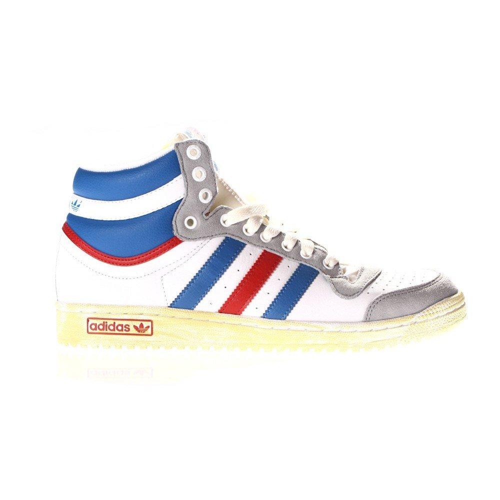 359de3e7 Adidas Top Ten Hi G60128 sneakers men leather white blue red: Amazon ...