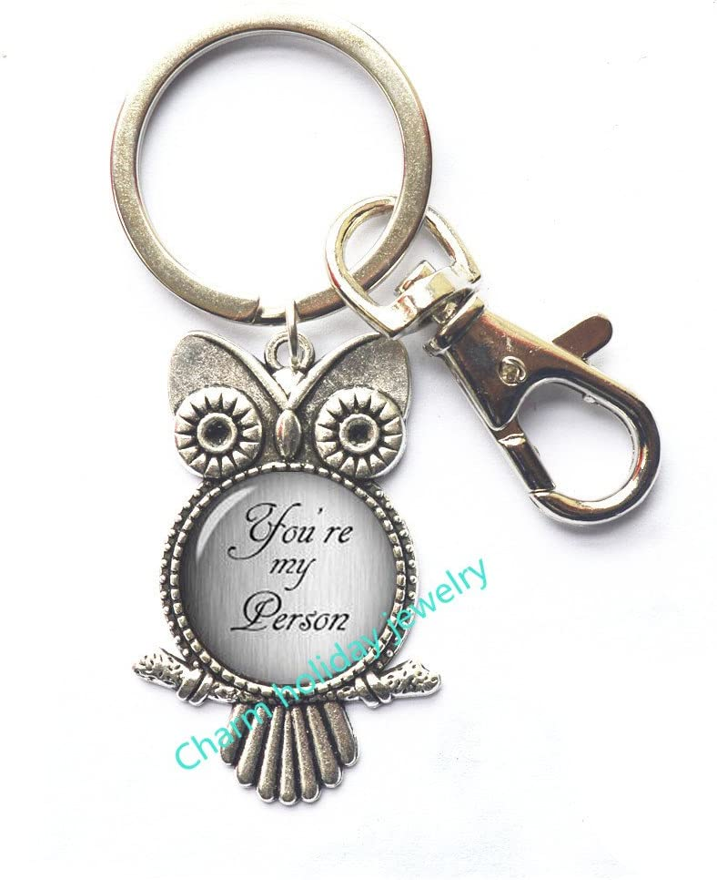 Amazon Com You Re My Person Owl Keychain Best Friend Gifts