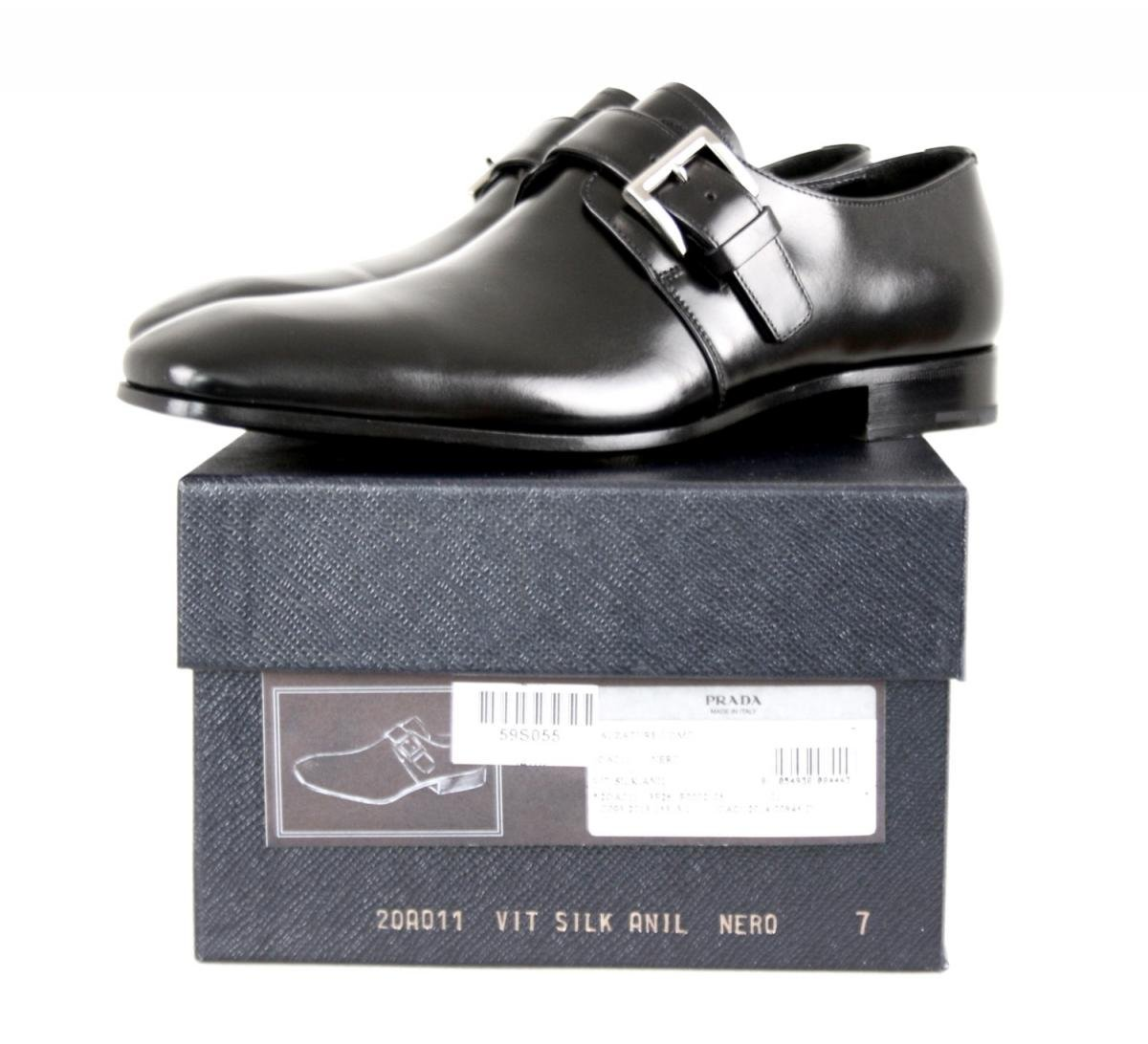 Prada Men's 2OA011 Black Leather Business Shoes EU 9.5 (43,5) / US 10.5 by Prada (Image #9)