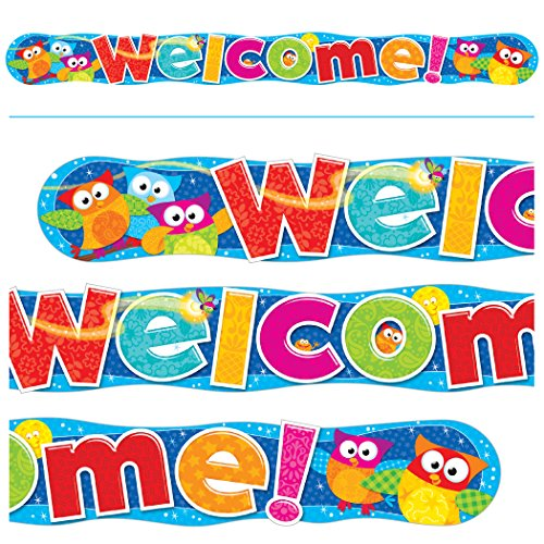 TREND enterprises, Inc. T-25071 Welcome Owl-Stars! Quotable Expressions Banner, 10'