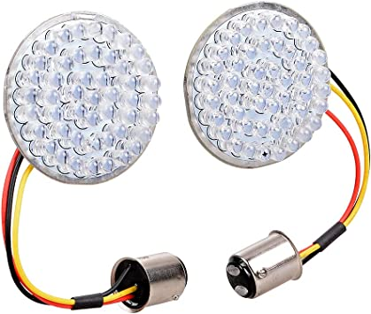 Amazon Com 1 Pair 2 Bullet Style Bulb 48 Led Rear Red Brake Lights Halo Ring Running Lamp 1157 Socket Kit Compatible With Harley Motorcycle Automotive