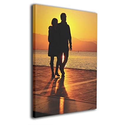 08a2284412f Pantsing Canvas Wall Art Prints Sunrise Sunset Romantic Love Couple  -Picture Paintings Modern Home Decoration