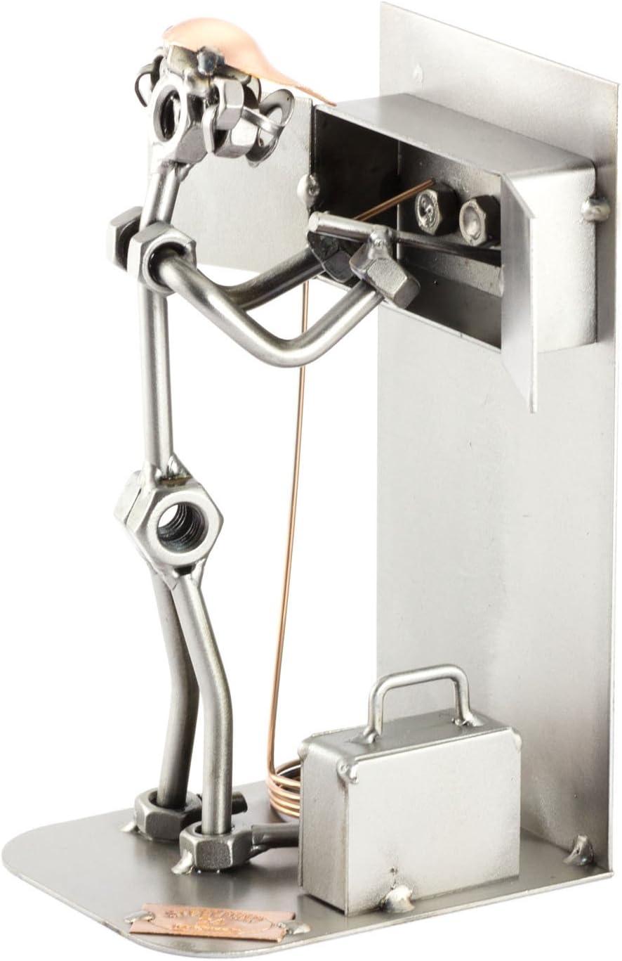 Steelman24 I Electricista I Made in Germany I Idea para Regalo I Figura de metalo