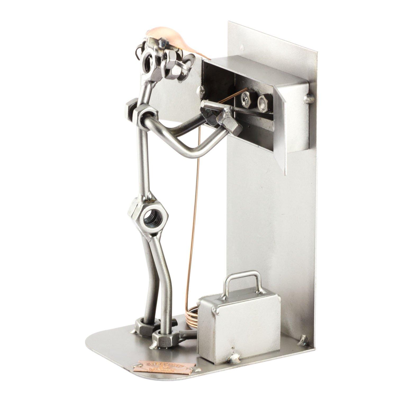 Steelman24 I Omini di Viti Elettricista I Idee Regalo Originale I Soprammobili in Metallo I Modellino