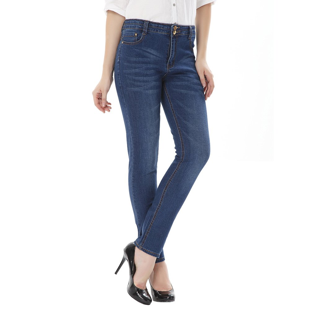 LIYT Womens Fashion Slim Fit High Waist Stretchy Jeans Pencil Pants Trousers