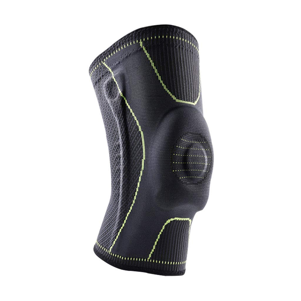 HQCC Basketball Training Knee Bumper Protective Gear Outdoor Running Warm Knee Pads Black (Size : S)