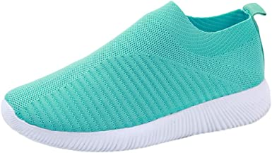 Hessimy Womens Athletic Walking Shoes Slip On Casual Mesh-Comfortable Work  Running Sneakers Knit Shoe Pet Supplies Horses