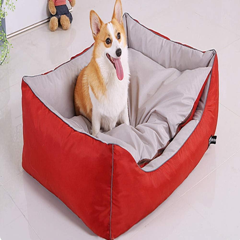 Qazxsw Cama Grande Impermeable para Perros, sofá Cama ortopédico para Mascotas, Funda extraíble y Lavable, cojín Suave para Perros, Cama con colchón, Cesta para Dormir cáli