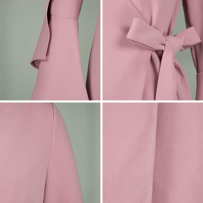 Xaviera Mujeres Vestido ajustado 1950s Otoño INVIERNO Delgado Rosa Elegante Vestido Pink at Amazon Womens Clothing store: