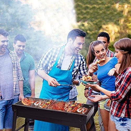 Barbecue à Charbon de Bois Portable Pliant en Acier Inoxydable Barbecue fumoir Grill adapté pour Le Camping en Plein air Pique-niques randonnée randonnée Cuisine