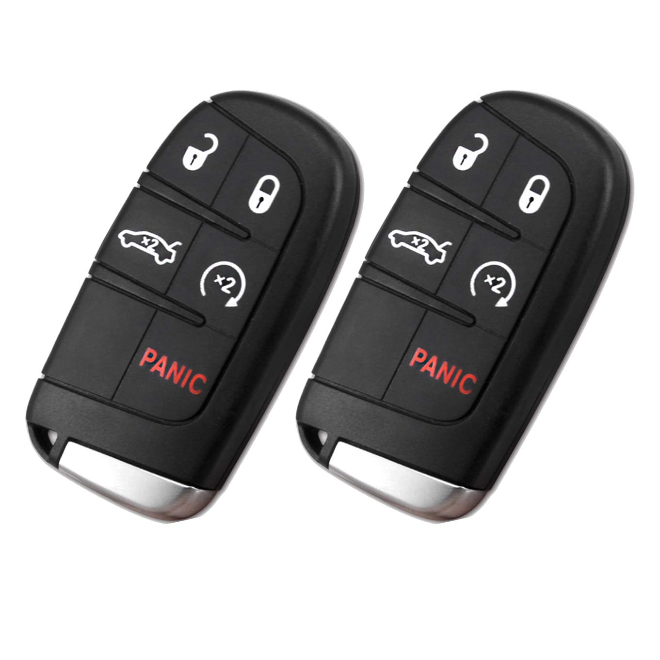Car Remote Entry System Kits for Chrysler 300 Dodge Journey Replacement 433MHz Remote Key Fob M3N-40821302