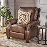 Denise Austin Home Jasmine PU Leather Recliner Club Chair