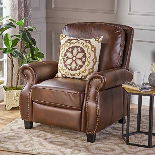 Denise Austin Home Jasmine PU Leather Recliner Club (Austin Leather Recliner)