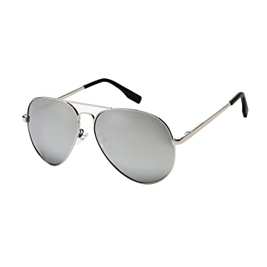 dc1b9690c4c Image Unavailable. Image not available for. Color  PGXT Premium Full  Mirrored Aviator W  Flash Mirror Lens Uv400 Sunglasses Eyewear Silver