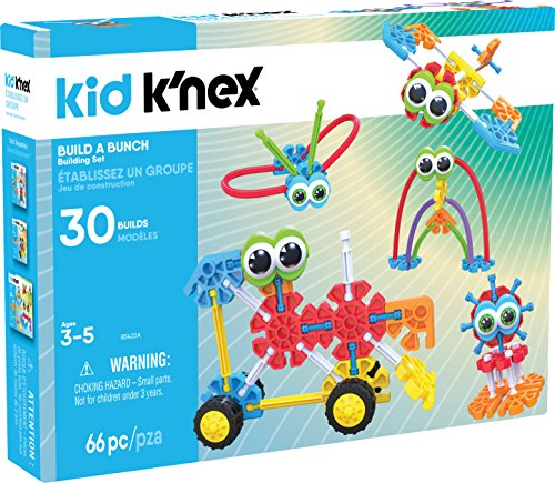 KID K'NEX – Build A Bunch Set – 66 Pieces – For Ages 3+ Construction  Educational Toy